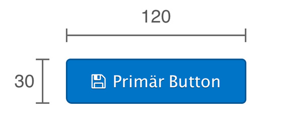 Abb.5: Button Bemaßungen