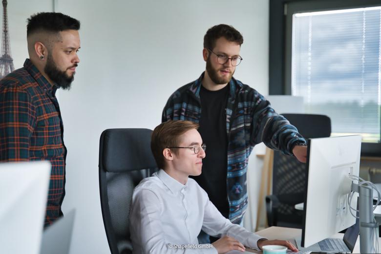 UX Designer Lenny, Mic und Mo